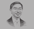 Sketch of Linus Goh, Head of Global Commercial Banking and Executive Vice-President, Oversea-Chinese Banking Corporation