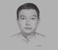 Sketch of U Myint Zaw, Deputy Minister for Energy