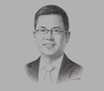 Sketch of Ang Wee Gee, CEO, Keppel Land