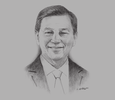 Sketch of Liew Mun Leong, Chairman, Surbana Jurong and Changi Airport Group