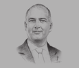 Sketch of Anders Aeroe, Director of the Division of Market Development, International Trade Centre (ITC)