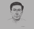 Sketch of U Yan Win, Chairman, Myanmar Tourism Federation (MTF)