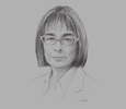 Sketch of Ana Maria Carrasquilla Barrera, Chairman of the Board and Executive President, Latin American Reserves Fund (FLAR)