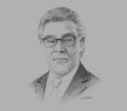 Sketch of Rafael Mejía López, President, Colombian Agriculture Association