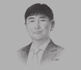 Sketch of Seong Hyun Lee, President, Samsung Colombia