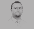 Sketch of Mahdi Darrar Obsieh, Director, Djiboutian Investment Promotion Agency
