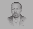 Sketch of Ahmed Osman, Governor, Central Bank of Djibouti