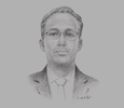 Sketch of Moussa Ahmed Hassan, Minister of Equipment and Transport