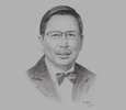 Sketch of  Roselan Johar Mohamed, Chairman, the Brunei Darussalam-Indonesia-Malaysia-Philippines East ASEAN Growth Area (BIMP-EAGA)