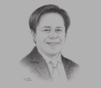 Sketch of Rabboni Francis B Arjonillo, President, First Metro Investment Corporation