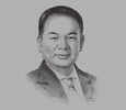 Sketch of Lorenzo Chan Jr, President, Pioneer Life & Retail Organisation Head, Pioneer Group