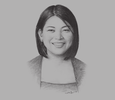 Sketch of  Joy Cañeba, CEO, Philippines AirAsia