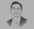Sketch of Ryan Guadalquiver, Managing Director, Hewlett Packard Enterprise