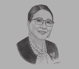 Sketch of Milagros Ong-How, Executive Vice-President, Universal Harvester Incorporated