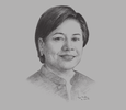 Sketch of  Senator Cynthia A Villar, Chairperson, Senate Committee on Agriculture and Food
