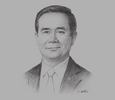 Sketch of Prime Minister Prayuth Chan-ocha, on ASEAN cooperation and regional integration