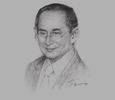 Sketch of Majesty Bhumibol Adulyadej, King of Thailand