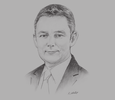 Sketch of Darren Buckley, Country Head, Citibank