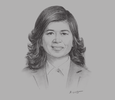 Sketch of Kesara Manchusree, President and CEO, the Stock Exchange of Thailand (SET)