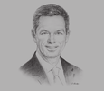 Sketch of Mark Kaufman, President, Ford ASEAN