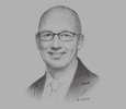 Sketch of Patrick Basset, Chief Operating Officer, AccorHotels Upper Southeast & Northeast Asia