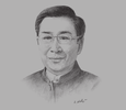 Sketch of Arthit Ourairat, President, Rangsit University