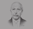 Sketch of Chedly Ayari, Governor, Central Bank of Tunisia (CBT)