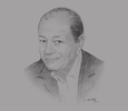 Sketch of Radhouane Ben Salah, President, Tunisian Federation of Hoteliers