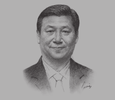 Sketch of Xi Jinping, President of China