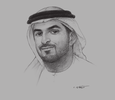 Sketch of Mohammad Helal Al Muhairi, Director-General, Abu Dhabi Chamber of Commerce and Industry (ADCCI)