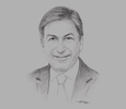 Sketch of Andre Sayegh, CEO, FGB