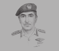 Sketch of Major General Mohammed Khalfan Matar Al Rumaithi, Commander-in-Chief, Abu Dhabi Police