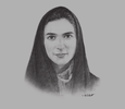 Sketch of Professor Maha Barakat, Director-General, Health Authority - Abu Dhabi (HAAD)