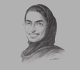 Sketch of Noura Al Kaabi, Chairwoman, Media Zone Authority–Abu Dhabi and twofour54