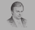 Sketch of Hugo Swire, Minister of State, UK Foreign and Commonwealth Office