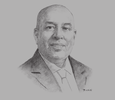 Sketch of Mohan Pandithage, Chairman and Chief Executive, Hayleys