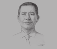 Sketch of Nelson Liu, Overseas Operations Officer, China Merchants Holdings International
