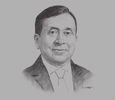 Sketch of Rajan Brito, Deputy Chairman and Managing Director, Aitken Spence
