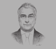 Sketch of Ugo Astuto, Director and Deputy Managing Director for Asia and the Pacific, European External Action Service