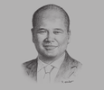 Sketch of Shahril Ridza Ridzuan, CEO, Employees Provident Fund (EPF)