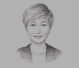 Sketch of Yen Saw, CEO, Tokio Marine Insurans
