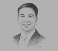 Sketch of Mohd Yazid Ja'afar, CEO, Johor Petroleum Development Corporation (JPDC)