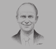 Sketch of Gary Brown, CEO, 7-Eleven Malaysia