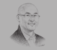 Sketch of Wong Heang Tuck, CEO, U Mobile