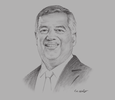 Sketch of Tunku Ahmad Burhanuddin, Group Managing Director and CEO, Themed Attractions Resorts & Hotels