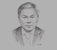 Sketch of Philip Teoh, Partner, Azmi & Associates