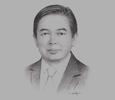 Sketch of Dato Mohd Amin Liew Abdullah, Deputy Minister, Ministry of Finance; and Chairman, Brunei Economic Development Board (BEDB)