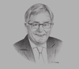 Sketch of Andrew Robb, the Australian Government's Special Envoy for Trade