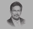 Sketch of  Pierre Imhof, CEO, Baiduri Bank