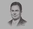 Sketch of Javed Ahmad, Former Managing Director, Bank Islam Brunei Darussalam (BIBD)